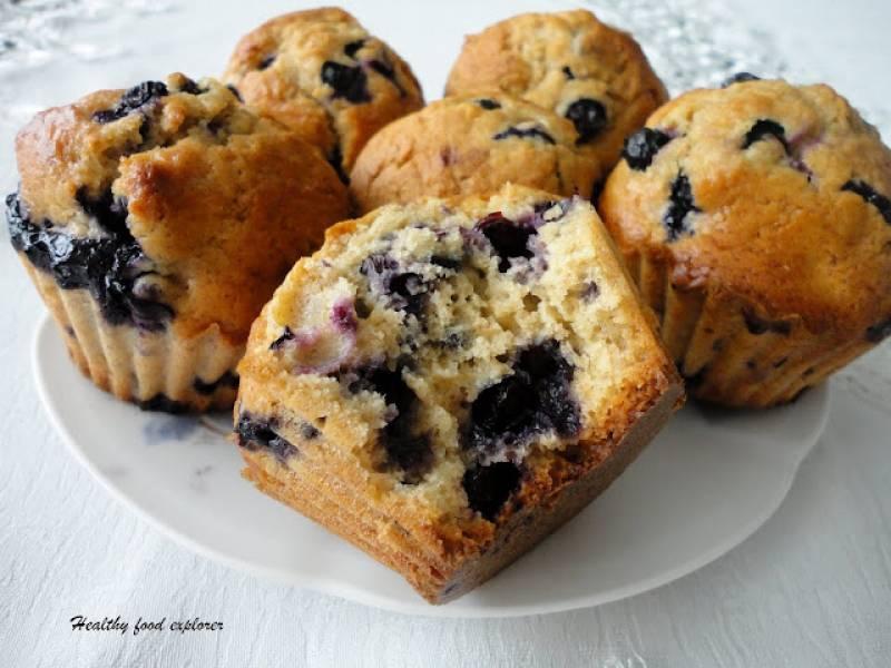Pełnoziarniste muffinki z borówkami