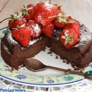 Szwedzkie ciasto czekoladowe bez mąki - Kladdkaka