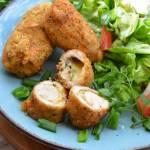 Roladki drobiowe z cheddarem i masłem ziołowym w ziołowej panierce