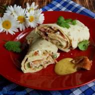 Łososiowe tortille z salsą