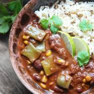 Chili sin carne z fasolką szparagową