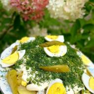 Sałatka z fasolki szparagowej z ziemniakami i jajkiem