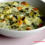 Zupa jarzynowa ze szpinakiem