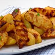Pieczone ziemniaki z miodem i czosnkiem
