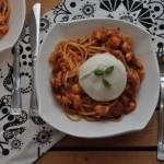 Spaghetti z burratą