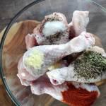 Pałki kurczaka pieczone w ziołach