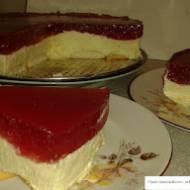 Ciasto śmietankowo - arbuzowe