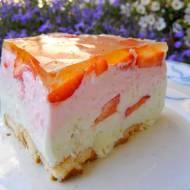 jogurtowo-śmietankowo-truskawkowy deser na zimno...