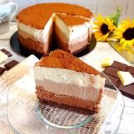 Ciasto trzy czekolady bez pieczenia