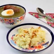Żurek z ziemniakami i kiełbasą