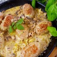 Kotlety folwarczne – zrazy z mięsa mielonego z pieczarkami