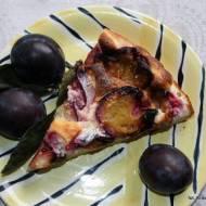 Ciasto z serem i śliwkami  - tarta z serem i śliwkami