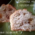 Szarlotkowe muffiny z syropem klonowym