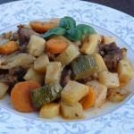 Karkówka pieczona z warzywami