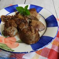 Kacza wątróbka w sosie teriyaki