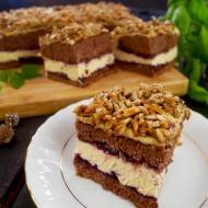 Ciasto Ochoczy Kusiciel – biszkopt z pysznym kremem i słonecznikiem