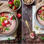 Czekoladowy bowl z owocami i granolą
