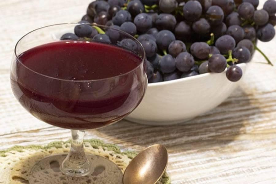 Kisiel z ciemnych winogron