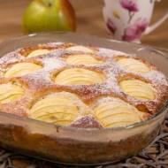 Ciasto twarogowe z jabłkami i musli