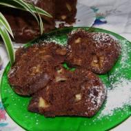 babka kakaowa z jabłkami bez miksera...