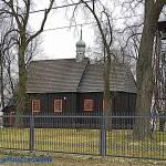Zabytkowy drewniany kościół pw. Matki Boskiej Łaskawej w Pęcławicach woj. łódzkie