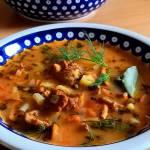 Zupa z fasolki i kurek