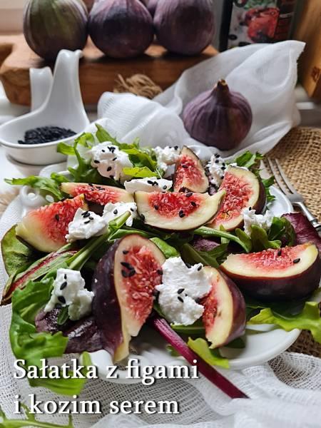 Sałatka z figami i kozim serem