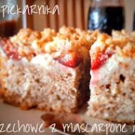 Ciasto orzechowe z mascarpone i śliwkami
