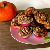 Babeczki czekoladowe z nadzieniem serowo-dyniowym