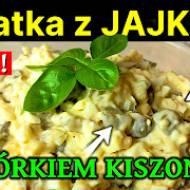 Sałatka z jajkiem i ogórkiem kiszonym - Przepis Keto