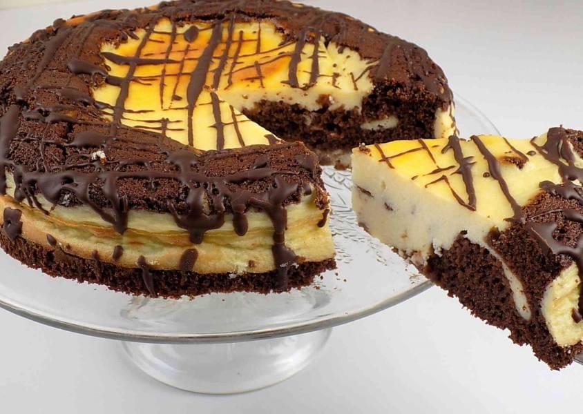 Ciasto czekoladowe wulkan