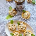 Wytrawne babeczki z grzybową sałatką