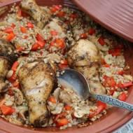 Kurczak z kaszą kus kus i warzywami