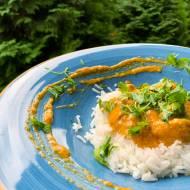 Indyk w sosie curry z ryżem basmati