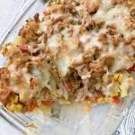 Zapiekanka obiadowa kebab-gyros